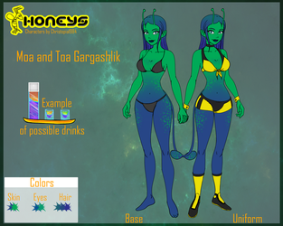 Honeys Moa and Toa Ref Sheet By Selvarr by Christopia1984