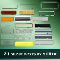 21 Shout boxes by M10tje