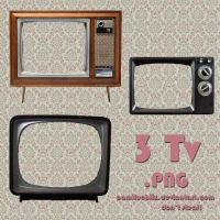 3 TV PNG by camiluchiiz