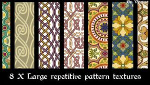8Xrepetitive pattern textures by visualjenna