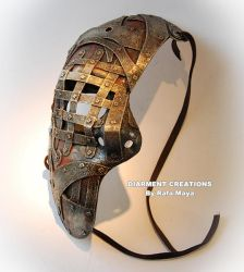 steampunk iron half mask by Diarment