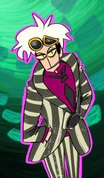 Request: Guzma as Beetlejuice by mimiEUROBEAT