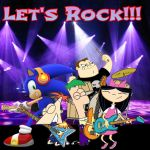 Rockin out with Phineas and friends by Darkmegafan01