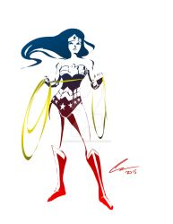 Wonder Woman Stencil by randomality85
