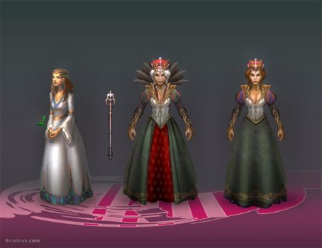 Queen and Princess Concepts by BrianLukArt