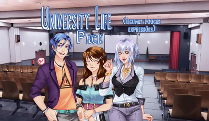 University Life AD | Personagens Pack | Sprites by KagomeChan0