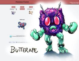Pokemon fusion- Butterape by MatiasSoto