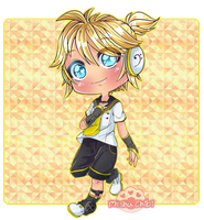 [+Video] Len Kagamine chibi by Myshumeaw