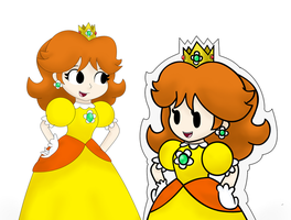Prncess Daisy Paper Jam by MarioSonicfans2000