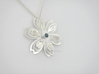 Wedding #1 Commission: Sakura Pendant 2 by annielijewellery