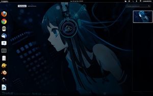 Mio desktop on Fedora 15 by lewatoto