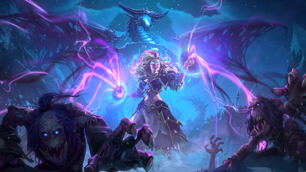 Hearthstone: Knights of the Frozen Throne - Jaina2 by Dabadalia