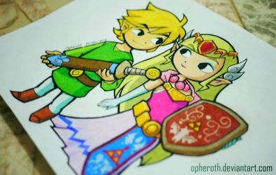 Link X Zelda by Opheroth