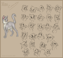 Mimo facial expressions by MilGoncalez