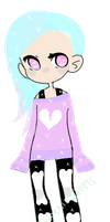 Pastel Goth girl (Auction) *OPEN* by TwoPhoenixAdopts