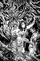 Wonder Woman issue 5 cover BW by LiamSharp