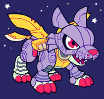 metalgarurumon by extyrannomon