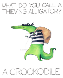 What do you call a thieving alligator? by arseniic