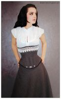 Houndstooth Underbust with Lace Trim by Trinitynavar
