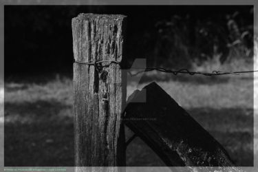 old fence by DarkLordEllia