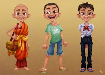 Novice Monk - Visual development by Savarama