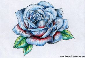 Blue rose tattoo by 9Rayne2