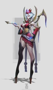 Elise Blood Moon Concept by Zeronis by Zeronis