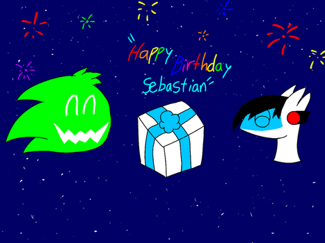 Happy Birthday Sebastian! X3 by LuckyEmerald269