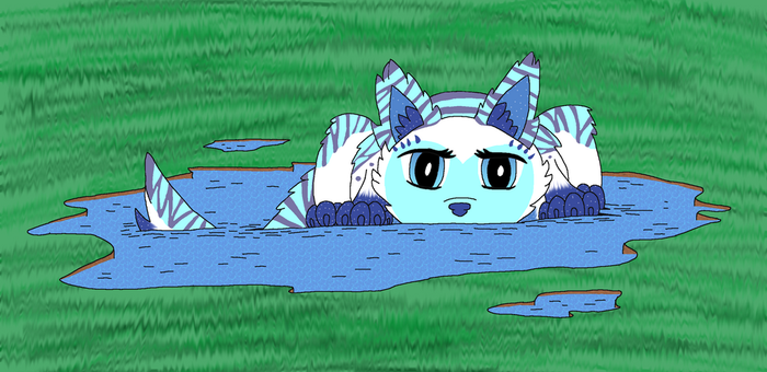 Lalli Playing Around in The Water by ShadowAngelBlood