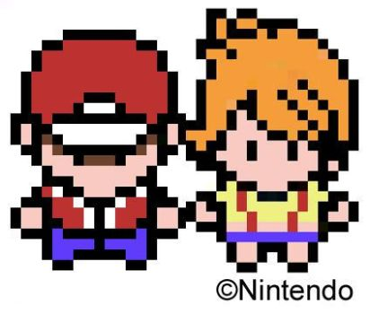 Ash and Misty Sprites by pokebunie