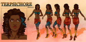 Terpsichore - Character Reference Sheet by TeraSArt