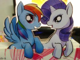 Rainbow Dash with Rarity by Ende26