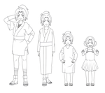 Tsunade Outfit Outlines Child by SunakiSabakuno