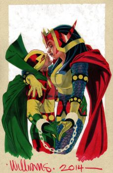 Scott and Barda going to Heroes 2014 by BroHawk