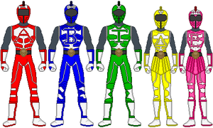 Power Rangers Olympanites by firebirdmaximus