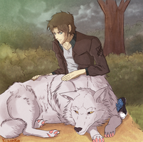 Wolf's Rain Kiba by Kizanko-dragon