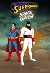 Superman and Space Ghost Team up by MikeBock