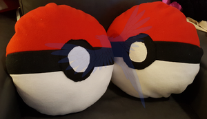 Pokeball Pillows by MidKnight-Raven