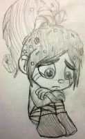 Crying Vanellope by Mimi-Sprinkles