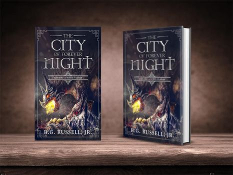 Fantasy book cover design by Miblart
