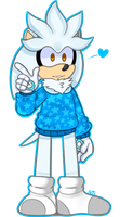 Silver the hedgehog by Peachewi