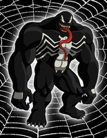 Venom (Ultimate Spider-Man) by RetroUniverseArt