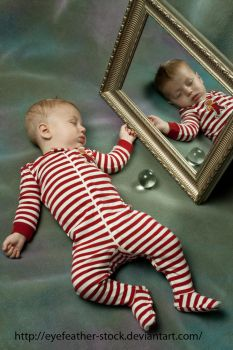 Mirror and Baby by eyefeather-stock