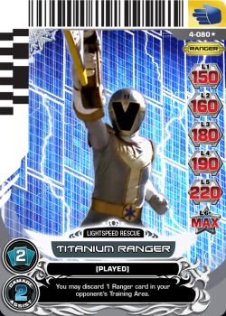 Custom Titanium Ranger Power Rangers ACG Card 2 by e-Berry