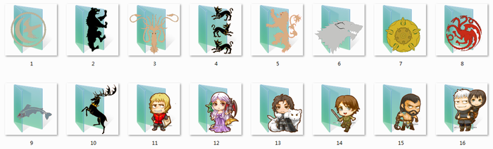 Game Of Thrones Folder Icons by Ginokami6