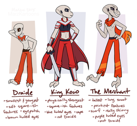My friend thinks every grey character is Draide by MarzKartoons