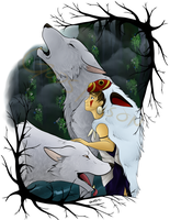 - Princess Mononoke - The Sounds of the Forest by Godspoison