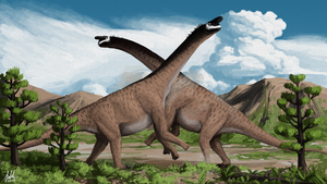 Camarasaurus Battle by PLASTOSPLEEN
