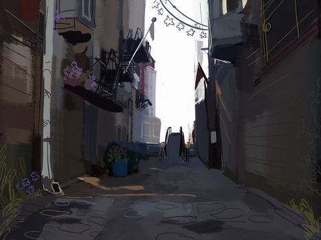 alleyway by legendfromthedeep