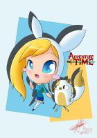 Adventure Time with Fionna and Cake by pokediged